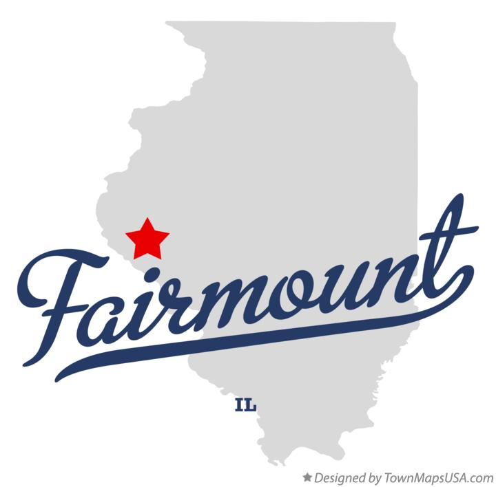 Map of Fairmount Illinois IL
