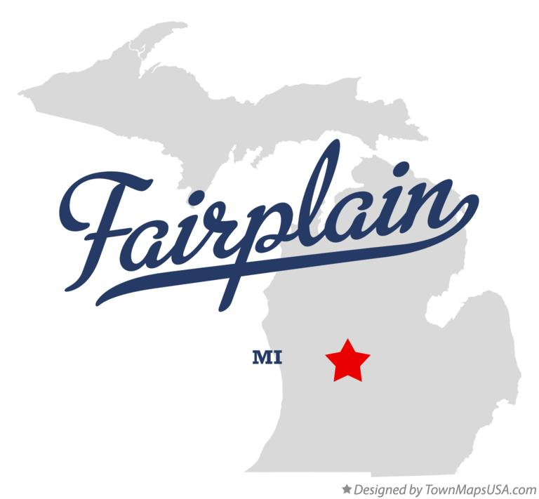 Map of Fairplain Michigan MI