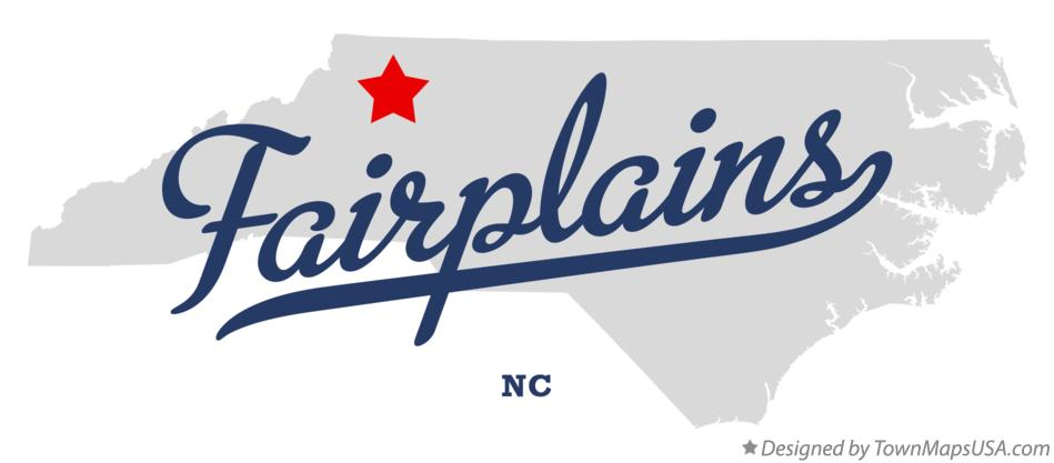 Map of Fairplains North Carolina NC