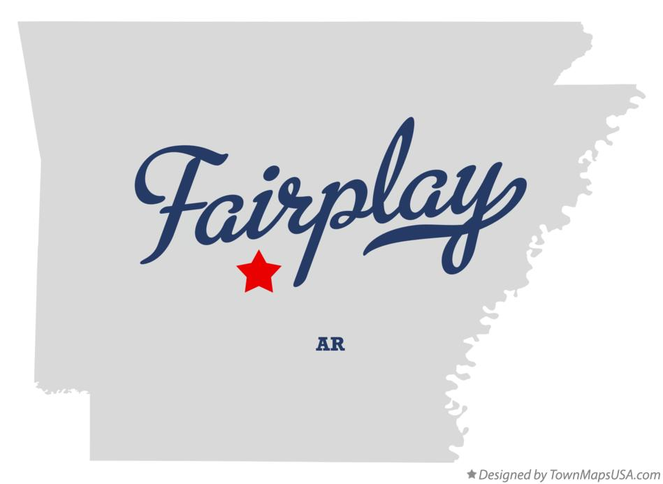 Map of Fairplay Arkansas AR