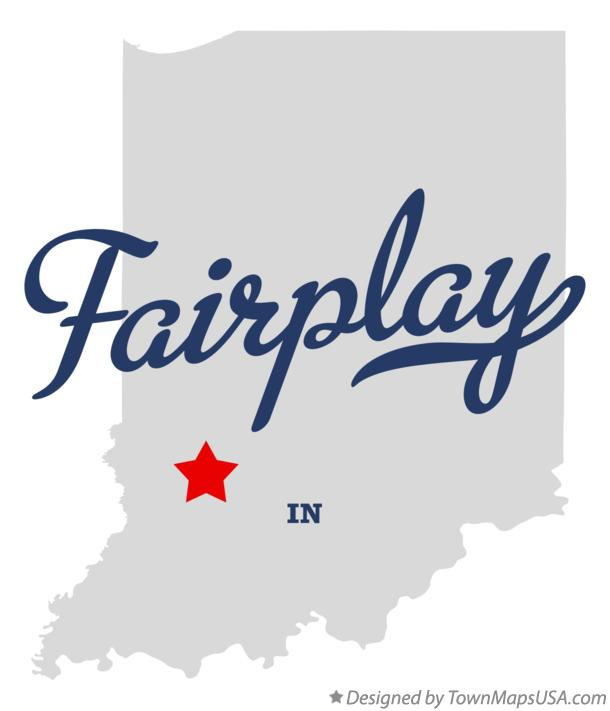 Map of Fairplay Indiana IN