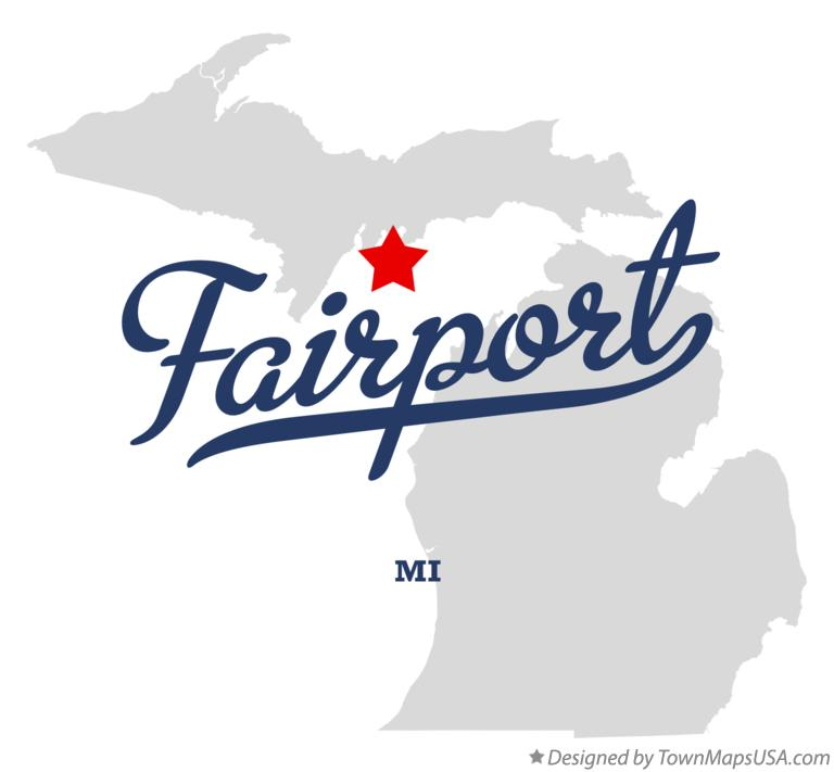Map of Fairport Michigan MI