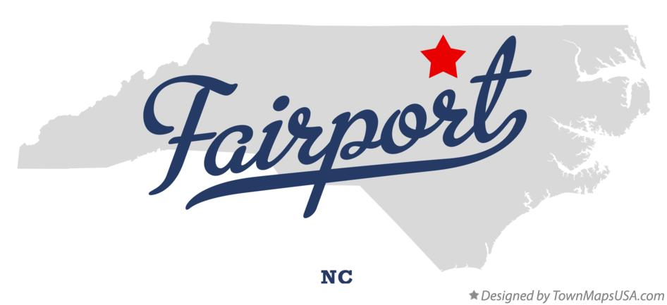 Map of Fairport North Carolina NC
