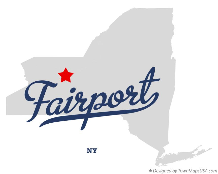 Map of Fairport New York NY