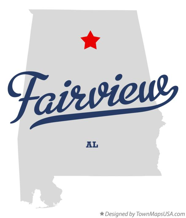 Map of Fairview Alabama AL