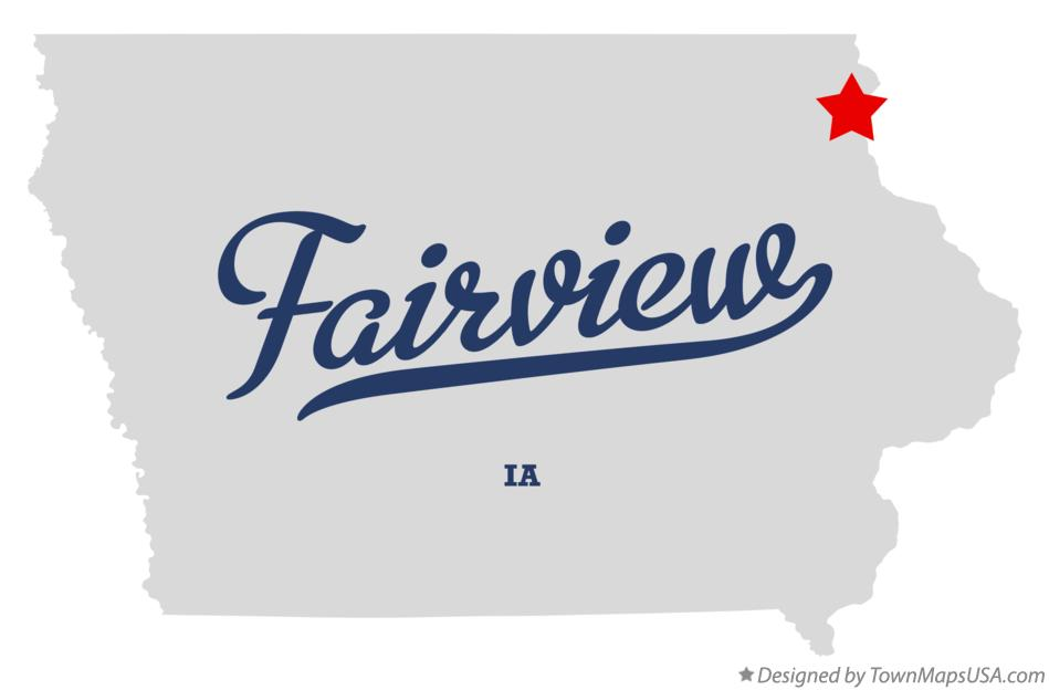 Map of Fairview Iowa IA