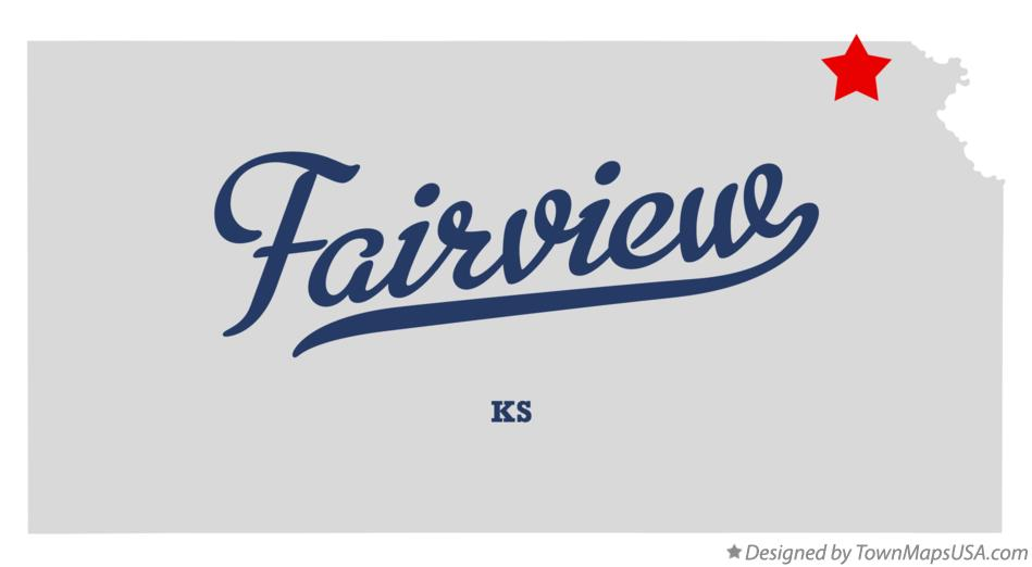 Map of Fairview Kansas KS