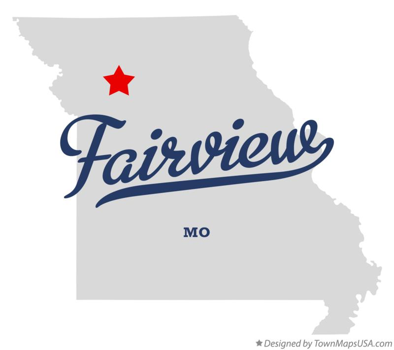 Map of Fairview Missouri MO