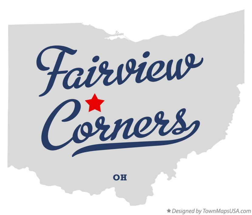 Map of Fairview Corners Ohio OH