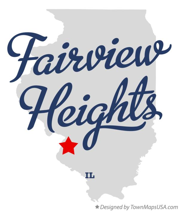 Map of Fairview Heights Illinois IL