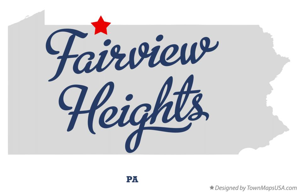 Map of Fairview Heights Pennsylvania PA