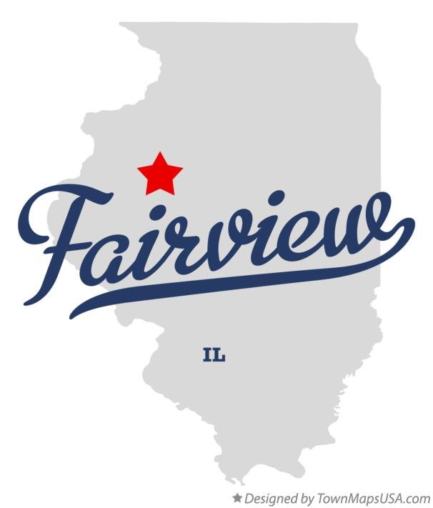 Map of Fairview Illinois IL