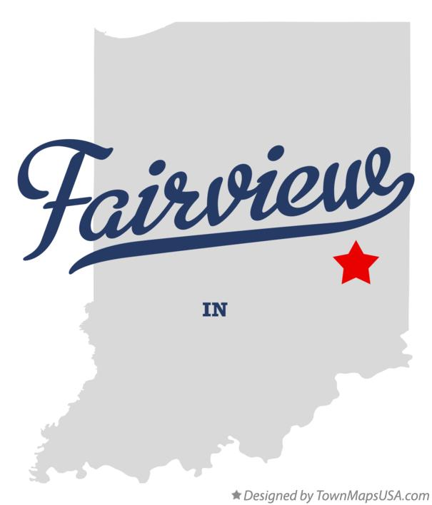 Map of Fairview Indiana IN