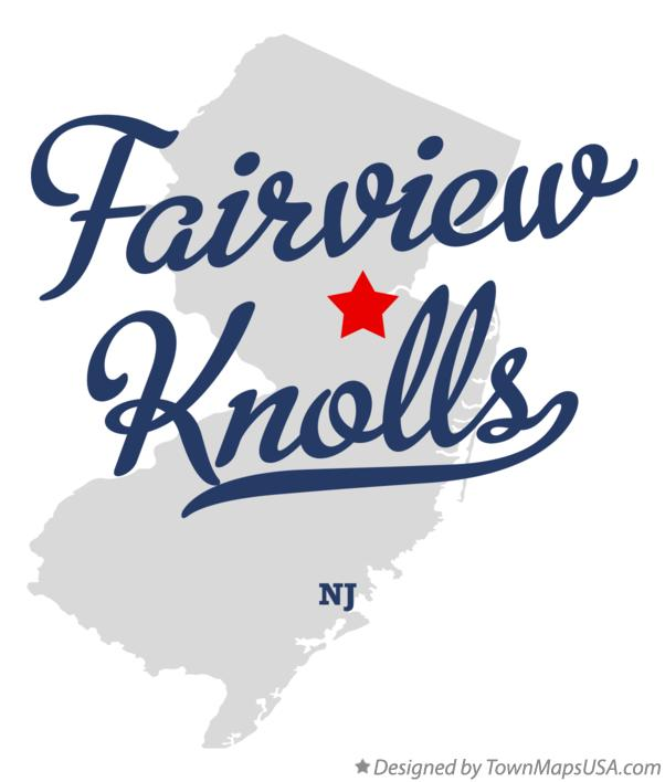 Map of Fairview Knolls New Jersey NJ
