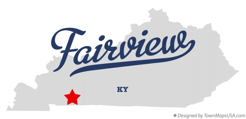 Map of Fairview Kentucky KY