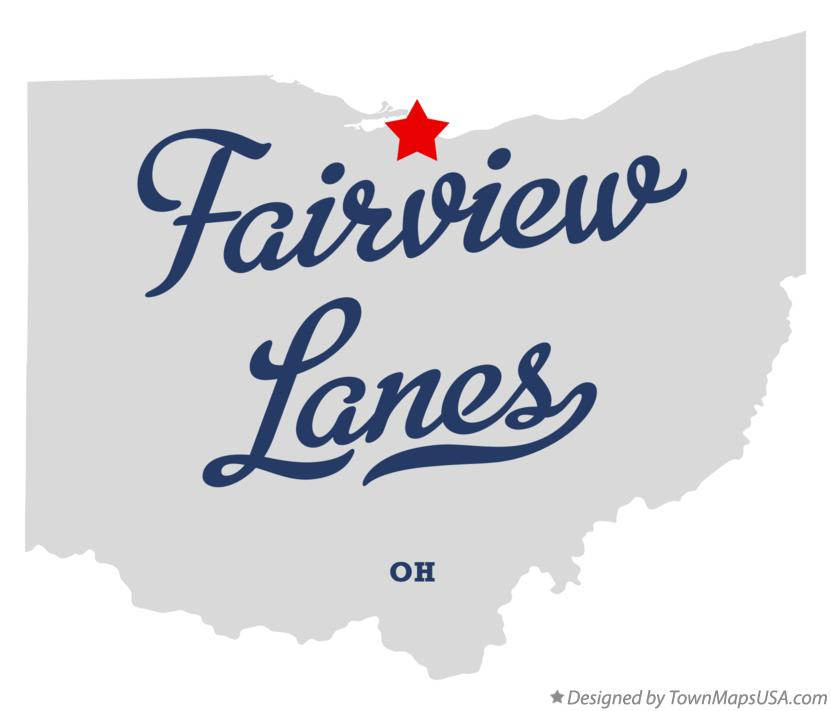 Map of Fairview Lanes Ohio OH