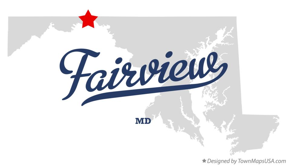 Map of Fairview Maryland MD