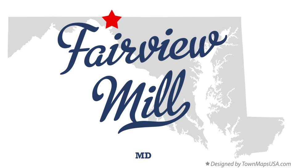 Map of Fairview Mill Maryland MD