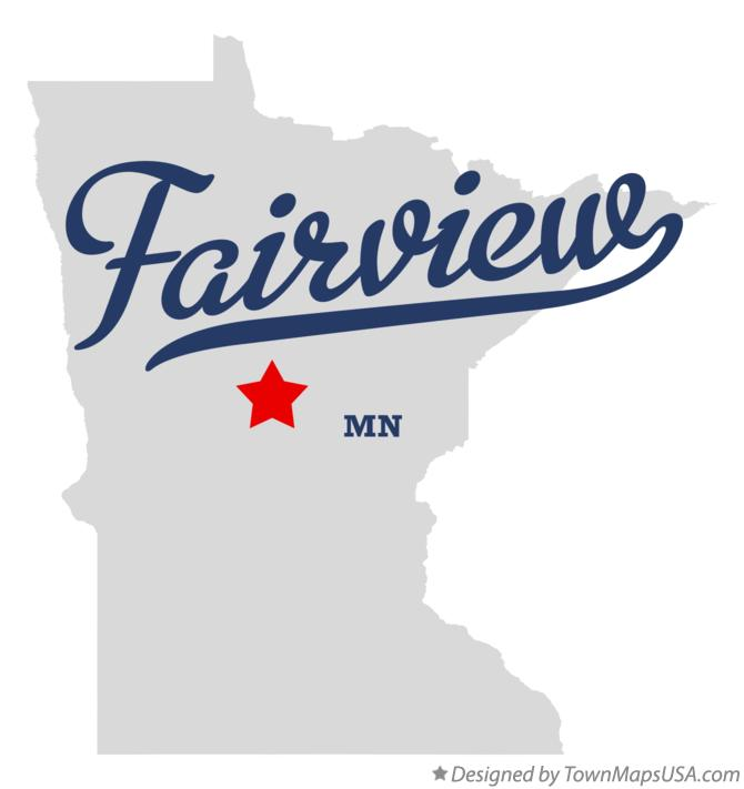 Map of Fairview Minnesota MN