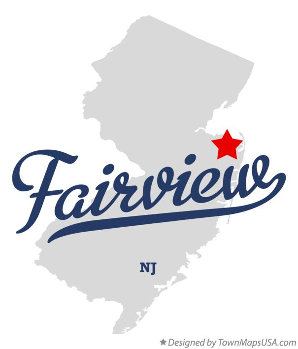 Map of Fairview New Jersey NJ