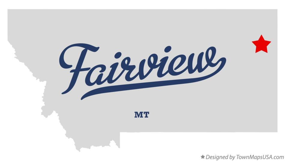 Map of Fairview Montana MT