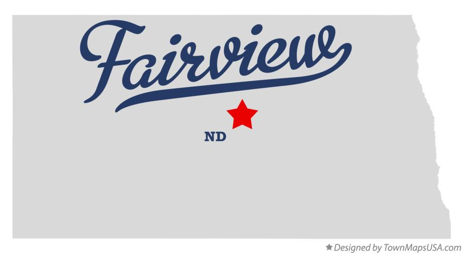 Map of Fairview North Dakota ND