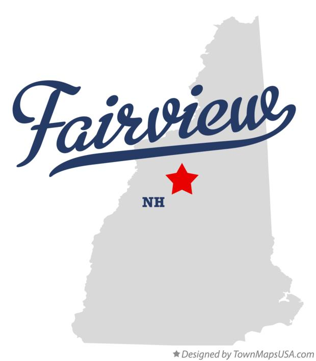 Map of Fairview New Hampshire NH