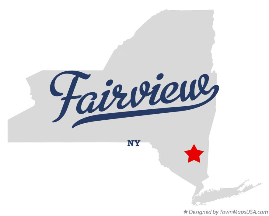 Map of Fairview New York NY
