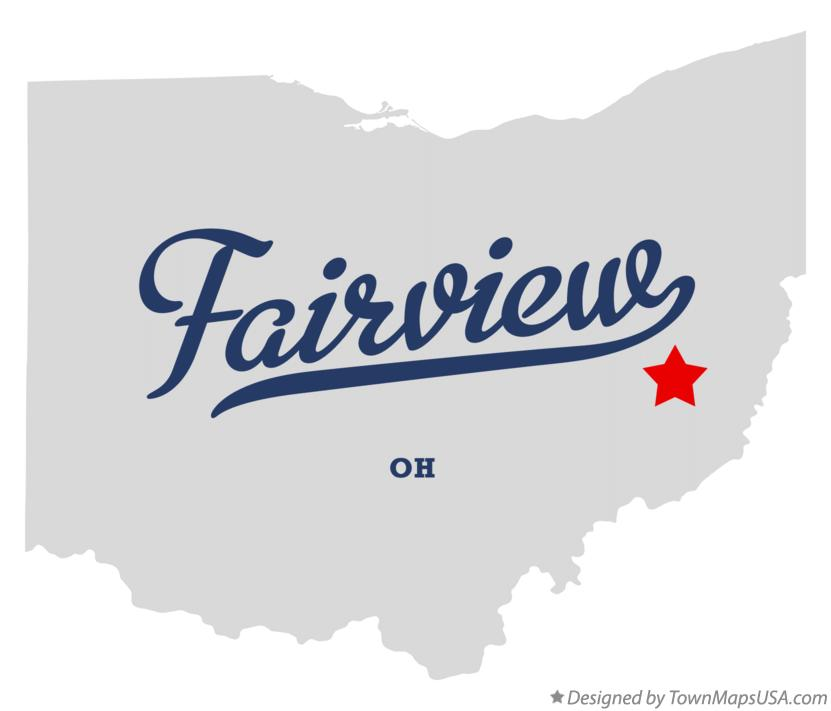 Map of Fairview Ohio OH