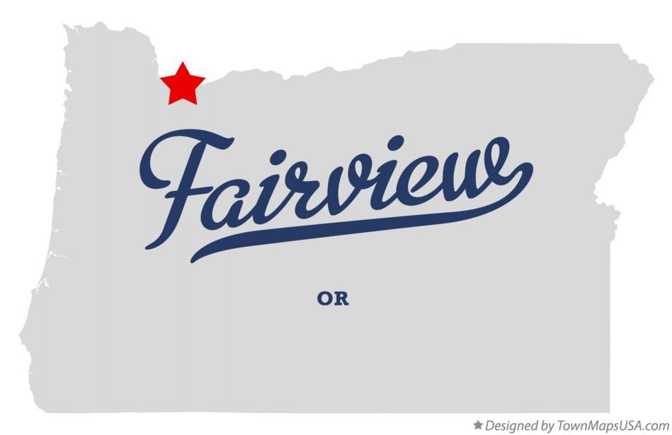 Map of Fairview Oregon OR