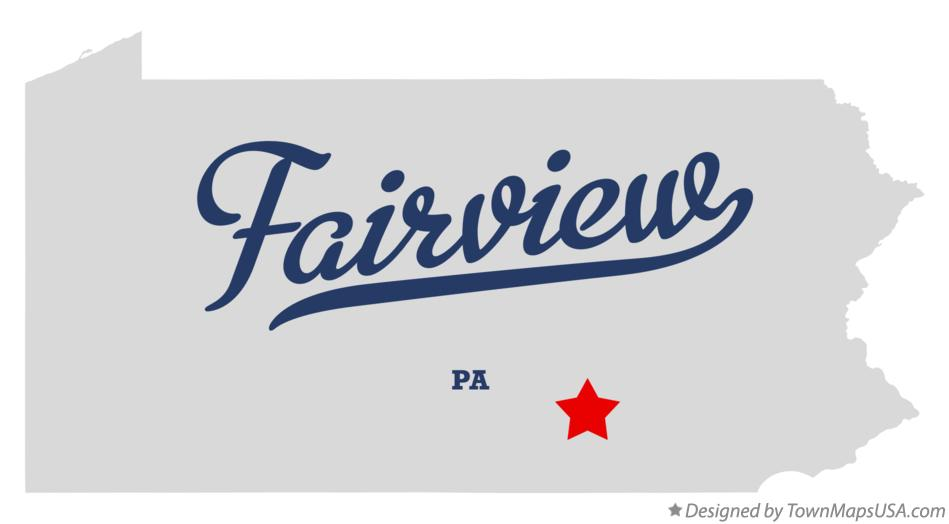 Map of Fairview Pennsylvania PA