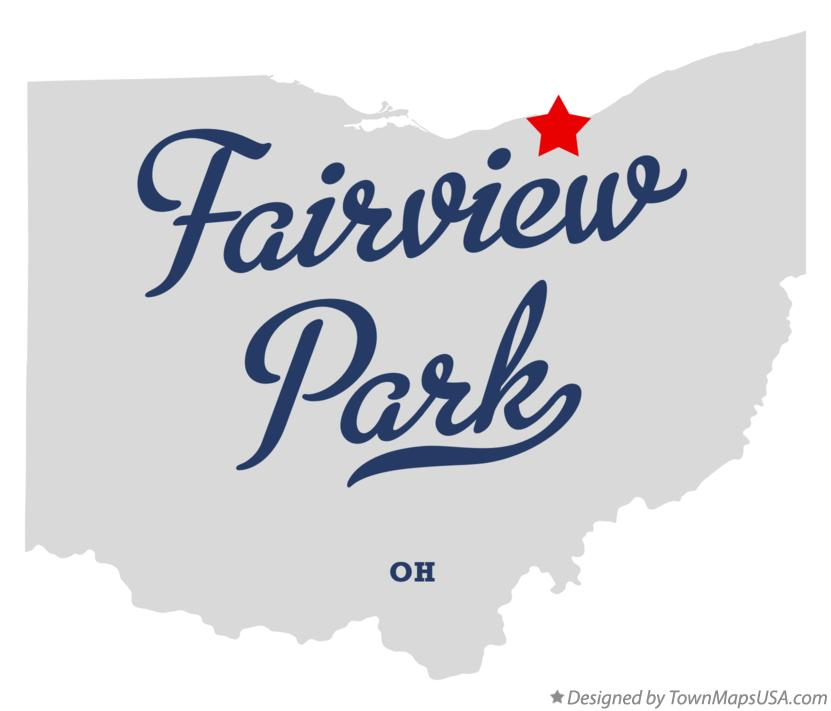 Map of Fairview Park Ohio OH