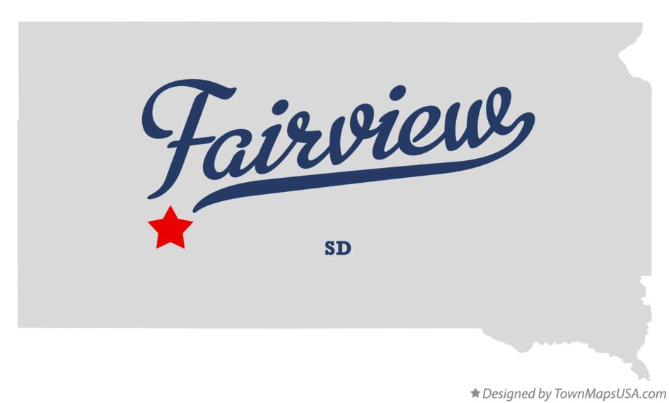 Map of Fairview South Dakota SD