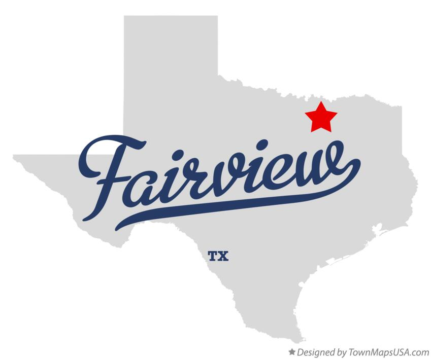 Map of Fairview Texas TX