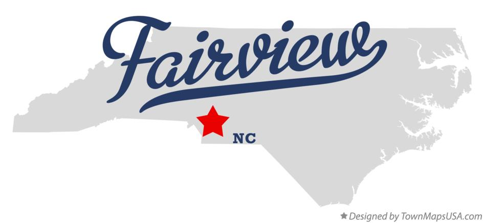 Map of Fairview North Carolina NC