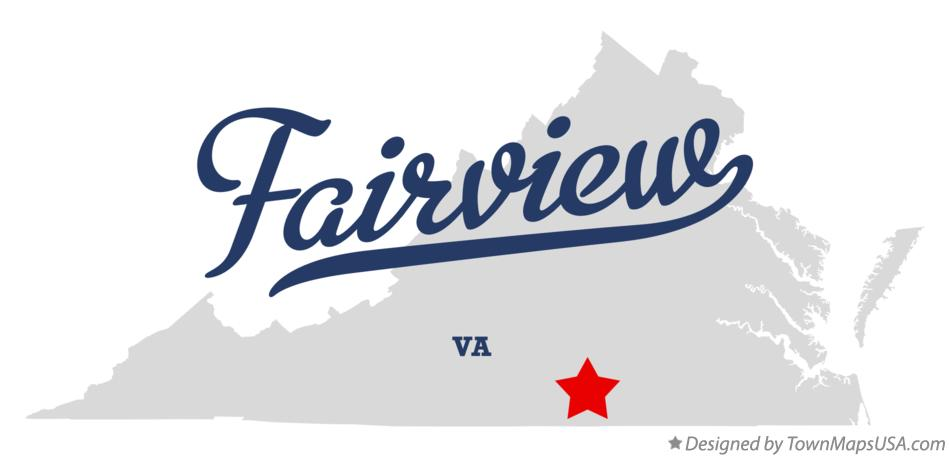 Map of Fairview Virginia VA