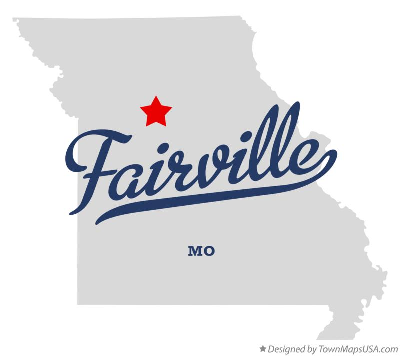 Map of Fairville Missouri MO