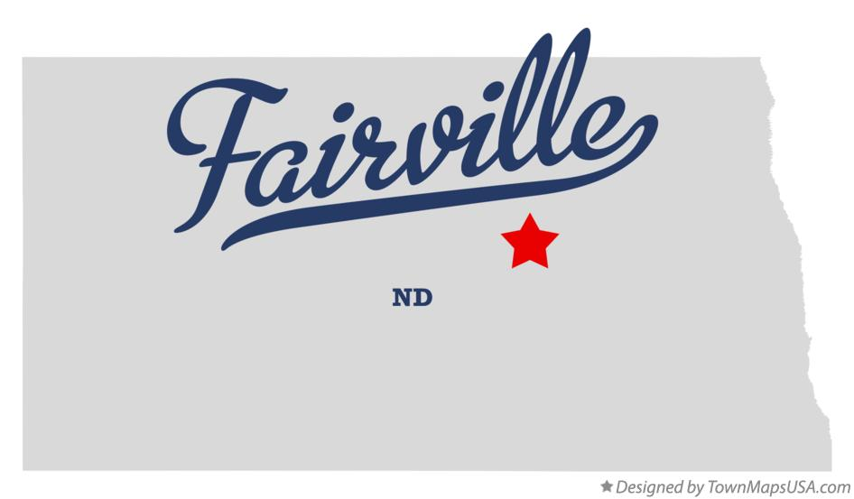 Map of Fairville North Dakota ND