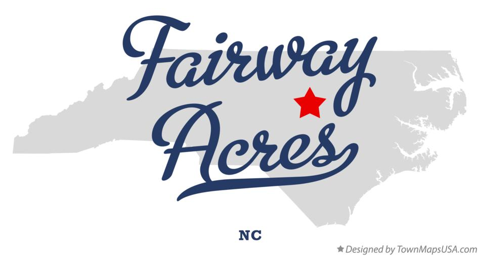 Map of Fairway Acres North Carolina NC