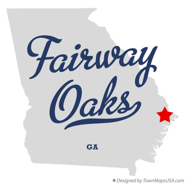 Map of Fairway Oaks Georgia GA