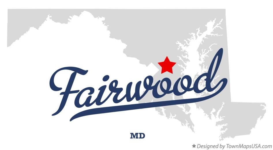 Map of Fairwood Maryland MD