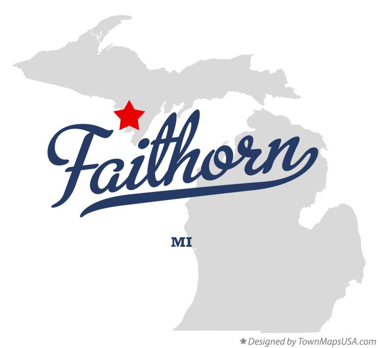 Map of Faithorn Michigan MI