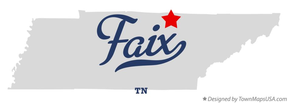 Map of Faix Tennessee TN