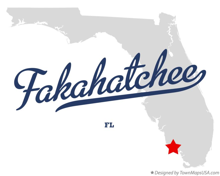 Map of Fakahatchee Florida FL