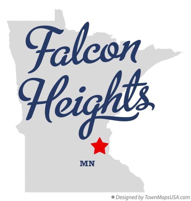 Map of Falcon Heights Minnesota MN
