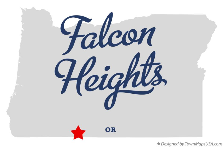 Map of Falcon Heights Oregon OR