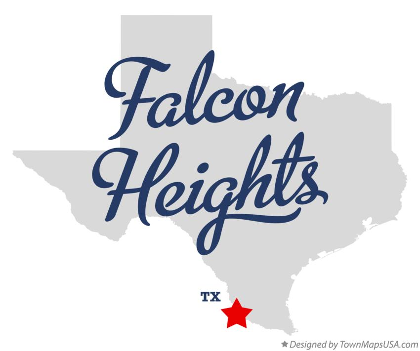 Map of Falcon Heights Texas TX