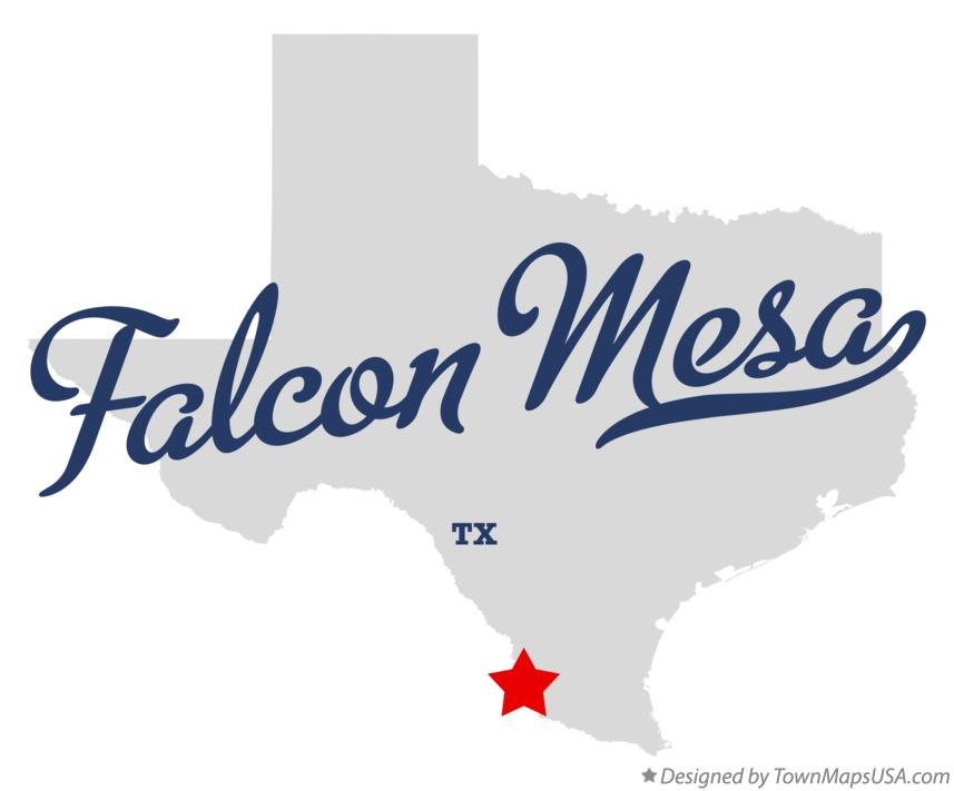 Map of Falcon Mesa Texas TX