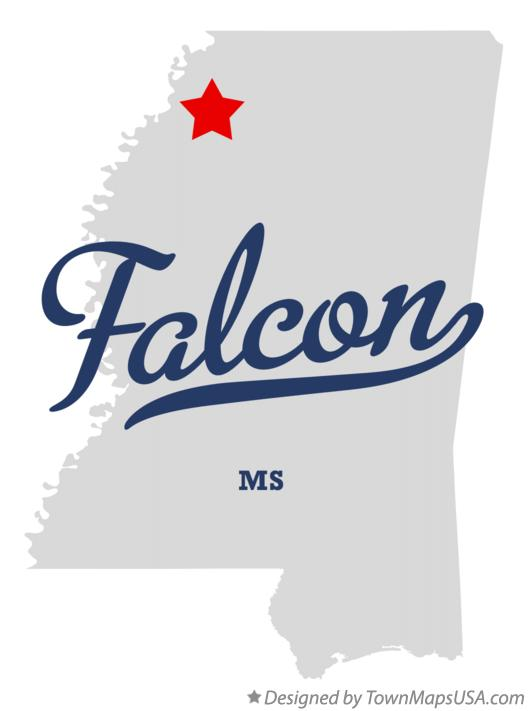 Map of Falcon Mississippi MS