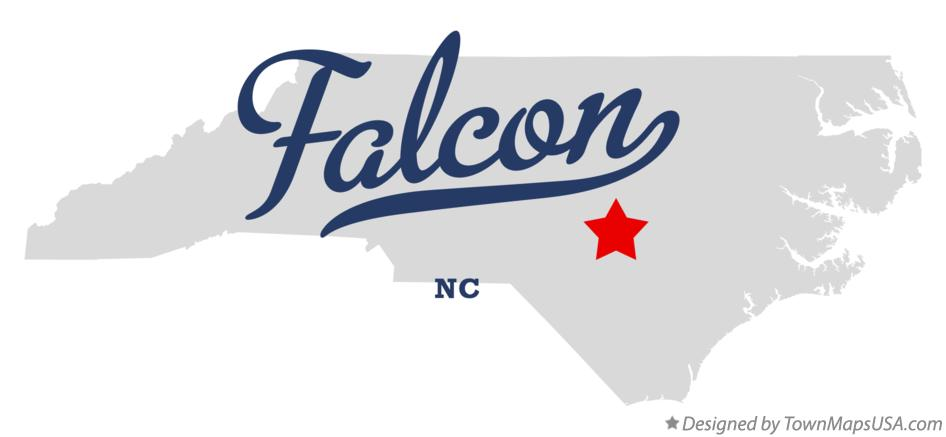 Map of Falcon North Carolina NC